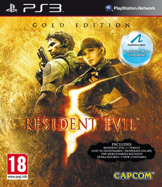 Resident Evil 5 GOLD - Move Edition (PS3)