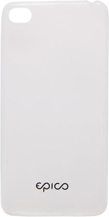 EPICO pružný plastový kryt pro Lenovo S90 RONNY GLOSS - čirá bílá