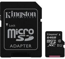 Kingston Micro SDXC 64GB Class 10 UHS-I + SD adaptér - SDC10G2/64GB