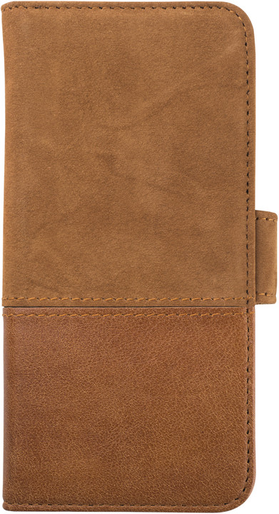HOLDIT Wallet Case magnet Apple iPhone 6s,7 - Brown Leath/Sued