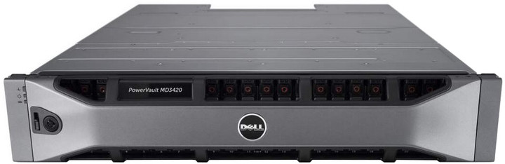 "Dell PowerVault MD3420 /24x 2,5"" bez HDD/2x 600W, rack"