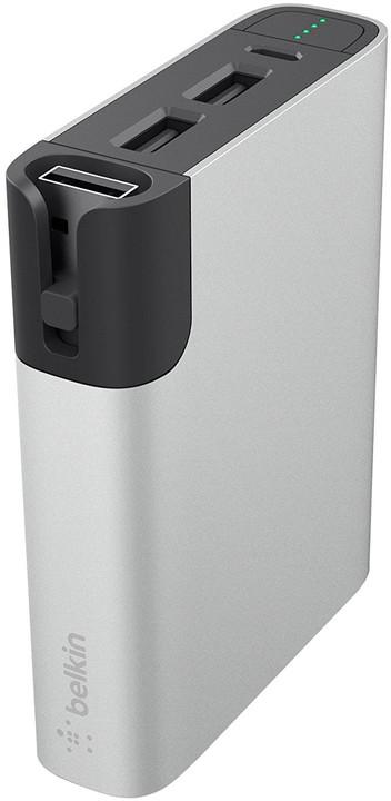 Belkin Power Pack 6000 W - MicroUSB, Lightning - Silver