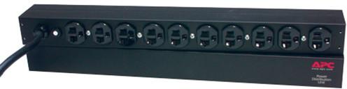 APC rack PDU, 1U, 20A, 120V, (10)5-20; 5-20P