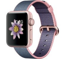 Apple Watch 2 38mm Rose Gold Aluminium Case with Light Pink/Midnight Blue Woven Nylon Band - MNP02CN/A