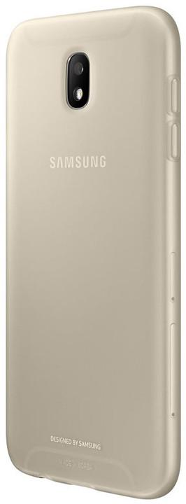 Samsung Galaxy J7 silikonový zadní kryt, Jelly Cover, zlatý