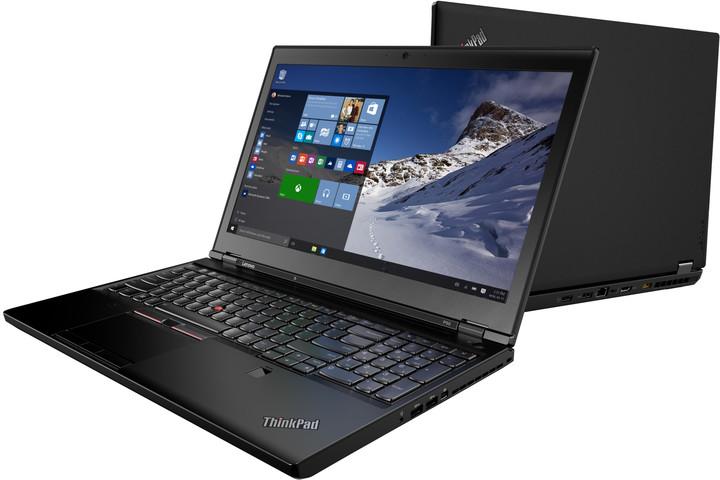 Lenovo ThinkPad P50s, černá
