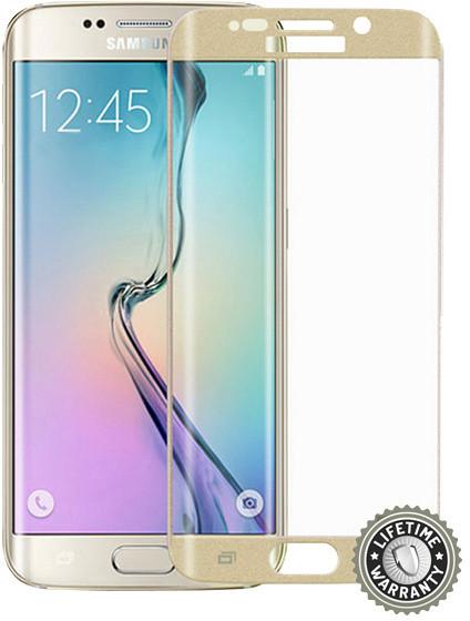 Screenshield ochrana displeje Tempered Glass pro Samsung Galaxy S6 edge Plus (SM-G928F), zlatá