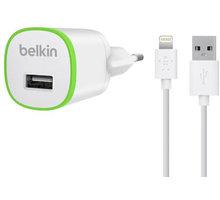Belkin USB 230V nabíječka s Lightning kabelem 1A - bílá - F8J025vf04-WHT
