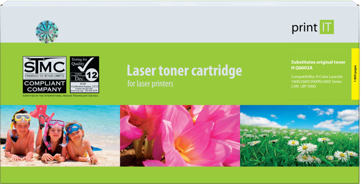 PRINT IT alternativní HP Q6002A CLJ2600 Yellow toner