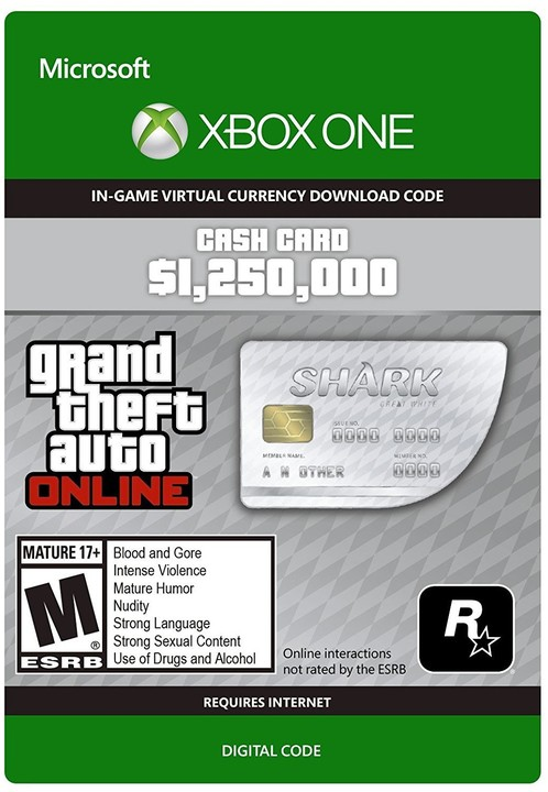 Grand Theft Auto V - Great White Shark Cash Card (Xbox ONE) - elektronicky