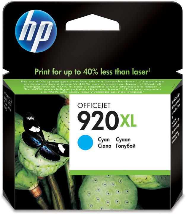 HP CD972AE, č. 920XL, azurová – ušetřete až 50 % oproti standardní náplni
