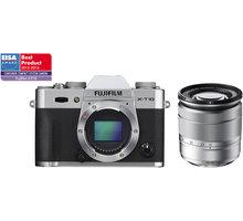 Fujifilm X-T10 + 16-50mm, stříbrná - 16471263