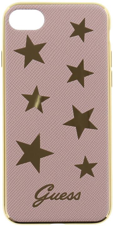 Guess Stars Soft PU Pouzdro Pink pro iPhone 7