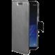 CELLY Wally pouzdro typu kniha pro Huawei P8/P9 Lite (2017), PU kůže, stříbrné