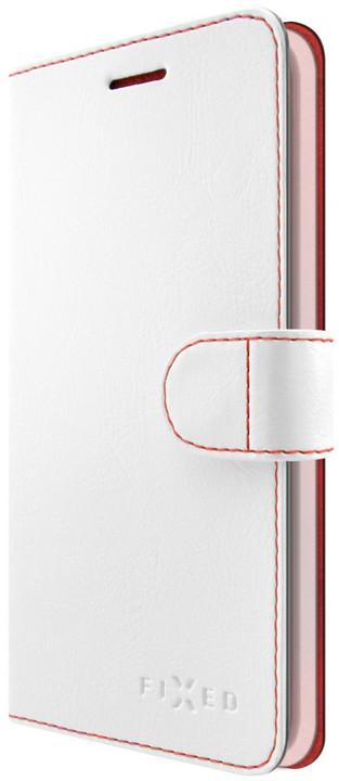 FIXED FIT pouzdro typu kniha pro Sony Xperia E5, bílé