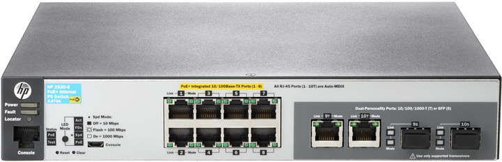 HP Aruba 2530 8 PoE+ Internal PS