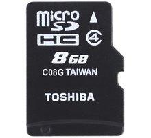 Toshiba Micro SDHC 8GB Class 4 + SD adaptér - THN-M102K0080M2