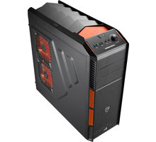 AeroCool XPredator X1 Evil Black Edition (Black/Orange) - EN57073