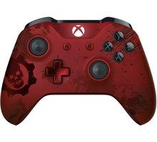 Microsoft Xbox ONE S Gamepad, bezdrátový, Gears of War, červený (Xbox ONE S) - WL3-00003