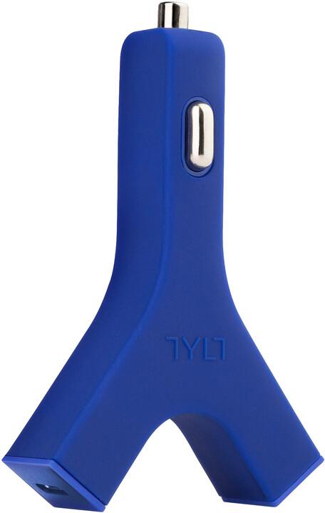 TYLT Y-CHARGE - 2.1A USB Car Charger Modrá