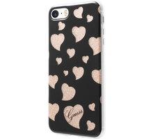 Guess Hearts TPU Pouzdro Black pro iPhone 5S/SE - GUHCPSEGLHBK