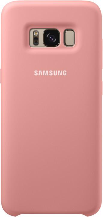 Samsung S8+, silikonový zadní kryt, růžová