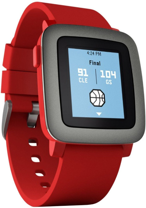 Pebble SmartWatch Time, červená