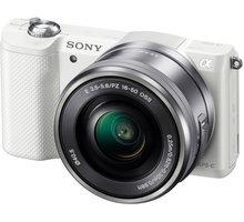 Sony Alpha 5000, bílá + objektiv 16-50mm - ILCE5000LW.CEC
