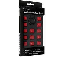 Sharkoon Mechanical Rubber Keyset, Cherry MX/Kailh, červené - 4044951019823