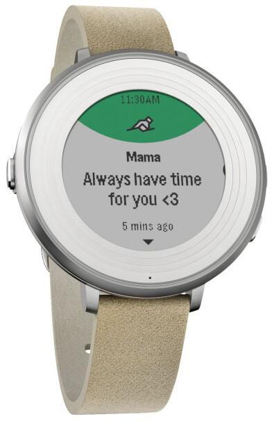 Pebble SmartWatch Time Round, 14mm pásek, stříbrná