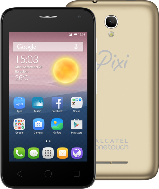 ALCATEL ONETOUCH PIXI FIRST (4), zlatá