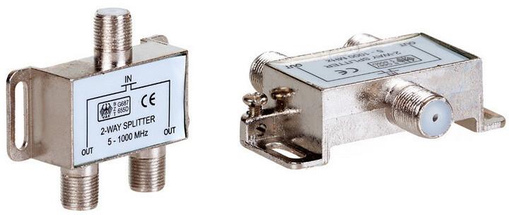 AQ KV310 - Satelitní antenní rozbočovač - 1x vstup, 2x výstup, F konektory