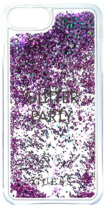 Guess Liquid Glitter Hard Party Purple pouzdro pro iPhone 7