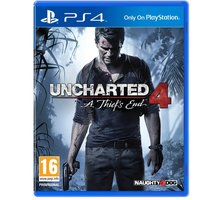 Uncharted 4: A Thief's End (PS4) - PS719454717 + Kniha Uncharted: Čtvrtý labyrint v ceně 200 Kč
