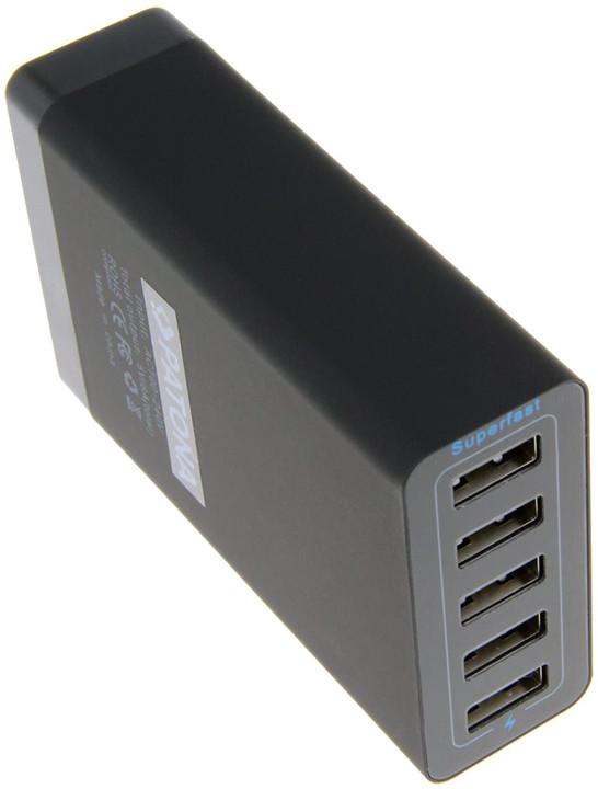 Patona USB adaptér 230V, 8A, 5portový