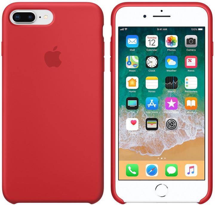 Apple silikonový kryt na iPhone 8 Plus / 7 Plus (PRODUCT)RED, červená