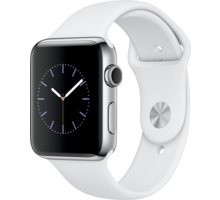 Apple Watch 2 42mm Stainless Steel Case with White Sport Band - MNPR2CN/A