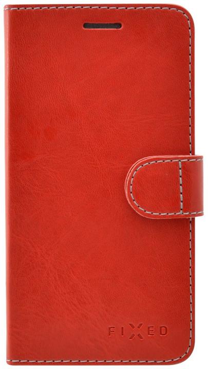 FIXED FIT pouzdro typu kniha pro Apple iPhone 7, červená