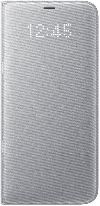 Samsung S8+, Flipové pouzdro LED View, stříbrná