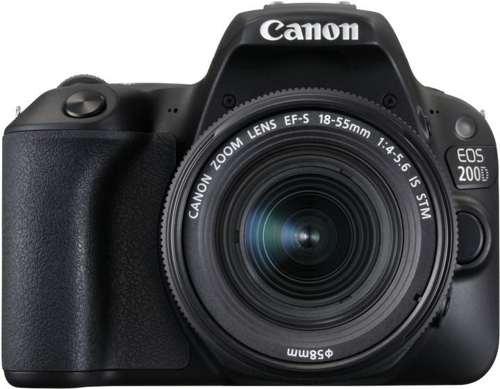 Canon EOS 200D + 18-55mm IS STM, černá