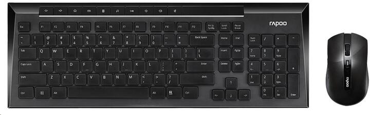 Rapoo 8200P, černá, CZ