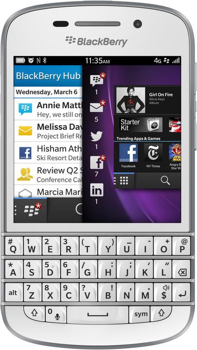 BlackBerry Q10, bílá