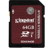 Kingston SDXC 64GB Class 10 UHS-I U3 - SDA3/64GB