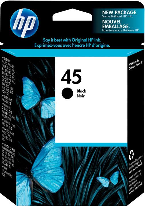 HP 51645A, no.45, černá