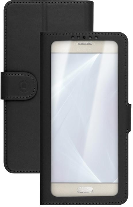 "CELLY View Unica pouzdro typu kniha, velikost L, 4"" - 4.5"", černé"