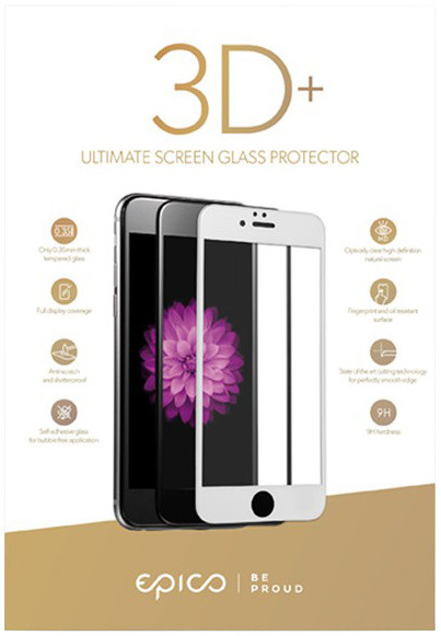 EPICO tvrzené sklo pro iPhone 6/6S/7 EPICO GLASS 3D+ - černá