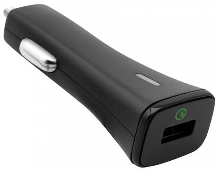 Fontastic autonabíječka Nano 2.1A, Quick Charge 2.0 Class A, černá