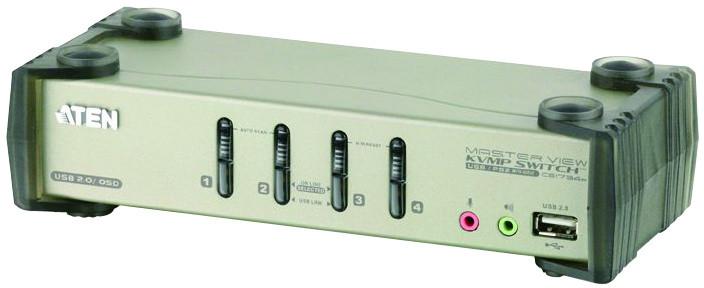 ATEN 4-port KVMP USB+PS/2, usb hub, audio, 1.2m