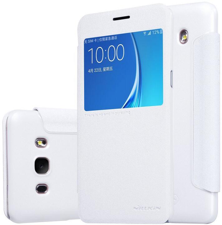 Nillkin Sparkle S-View Pouzdro pro Samsung J510 Galaxy J5 2016 White
