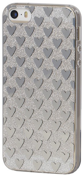 EPICO pružný plastový kryt pro iPhone 5/5S/SE SILVER HEARTS
